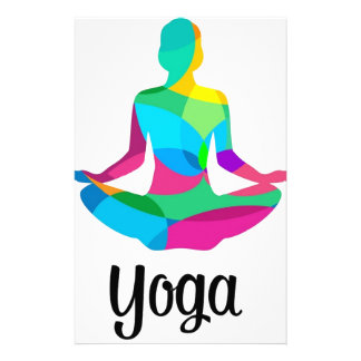 Yoga setting and fitness stationery