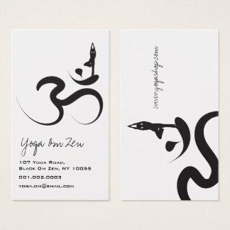 Yoga Silhouette Black Logo Symbol Om Ohm Zen Business Card