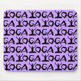 Yoga Silhouettes Tiled Mouse Pad