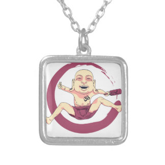 Yoga Silver Plated Necklace