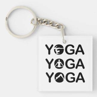 Yoga Single-Sided Square Acrylic Keychain