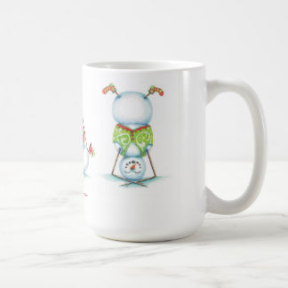 Yoga snowman christmas coffee mug