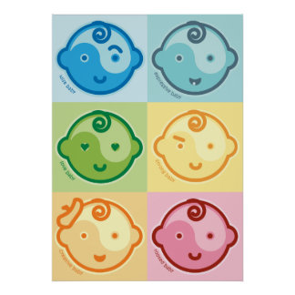 Yoga Speak Baby : All Baby Chakras Canvas Poster