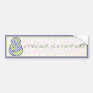 Yoga Speak Baby : Happy Baby Sticker - Purple