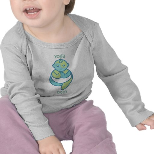 Yoga Speak Baby : Tree Pose Yoga Baby Tshirt