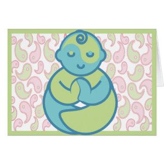 Yoga Speak Baby : Yoga Baby Blank Greeting Card