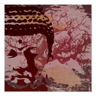 Yoga Speak : Buddha Tree Print