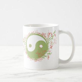 Yoga Speak : Pretty Yin-Yang Symbol Mug
