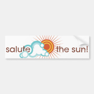 Yoga Speak : Salute the Sun! Bumper Sticker