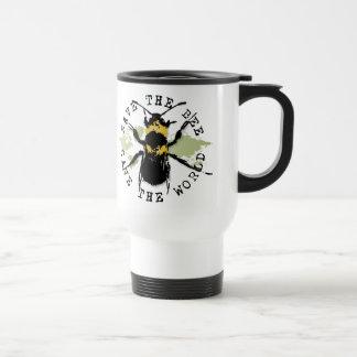 Yoga Speak : Save The Bee ... Save The World! Coffee Mugs