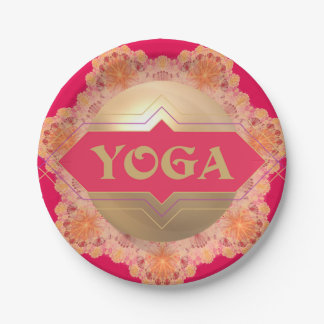 Yoga Spirit paper plate 7 Inch Paper Plate