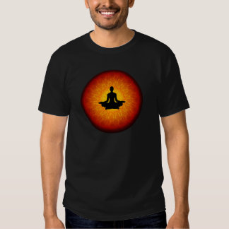 Yoga spirituel sur le mandala tshirt