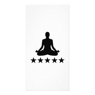 Yoga stars photo greeting card