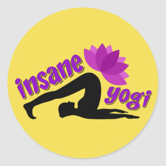 Yoga Sticker with Insane Yogi sign