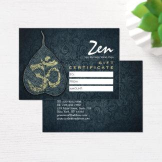 Yoga Studio Gift Certificate Bodhi Leaf OM Symbol