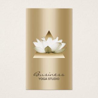 Yoga Studio Modern Gold Lotus Elegant Business Card
