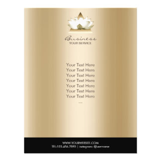 Yoga Studio Modern Lotus Logo Gold Spa Brochure