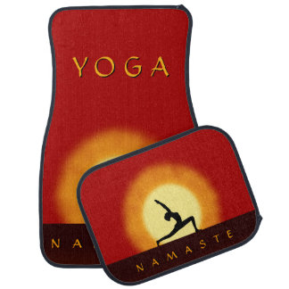 Yoga Sunrise Pose Front & Back Car Floor Mats Set