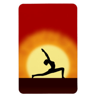 Yoga Sunrise Pose Shilhouette Large Flexi Magnets