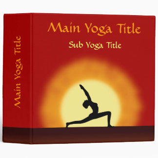 Yoga Sunrise Pose Silhouette 2 Inch Folders Binder