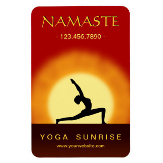 Yoga Sunrise Pose Yoga Studio Large Flexi Magnets