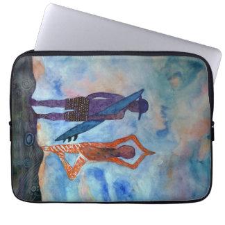 "Yoga Surf Watercolor Neoprene Laptop Sleeve 13"""