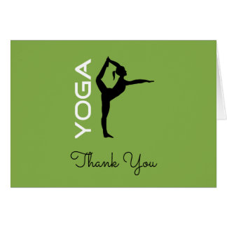 Yoga Teacher Appreciation Yoga Pose Silhouette Card