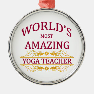 Yoga Teacher Metal Ornament