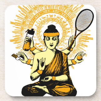 yoga tennis coaster