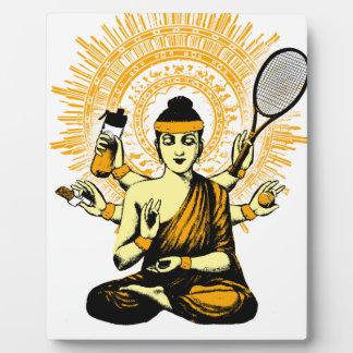 yoga tennis plaque