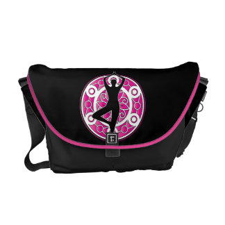 Yoga themed design messenger bag