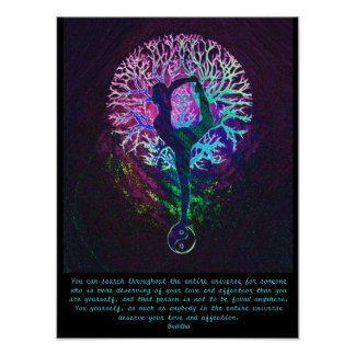 Yoga Tree - Buddha Quote Poster