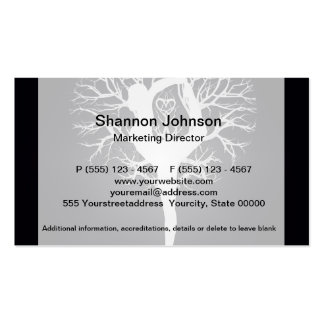 Yoga Tree in Black and White Business Card
