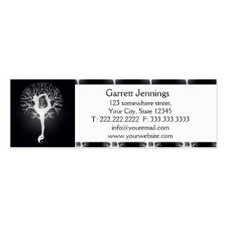Yoga Tree in Black and White Pack Of Skinny Business Cards