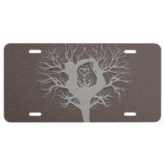 Yoga Tree License Plate