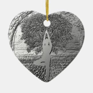 Yoga Tree of Life in Chrome Ceramic Ornament