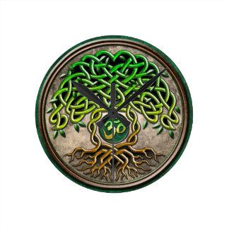 Yoga Tree of Life Round Clock