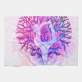 Yoga Tree Pastel Rainbow Kitchen Towel