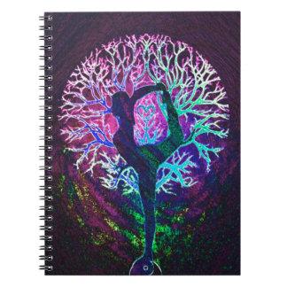 Yoga Tree Peace Rainbow Notebook