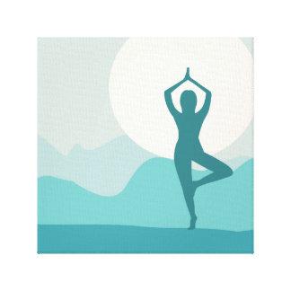 Yoga Tree Pose Canvas Print