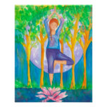 Yoga Tree Pose Poster