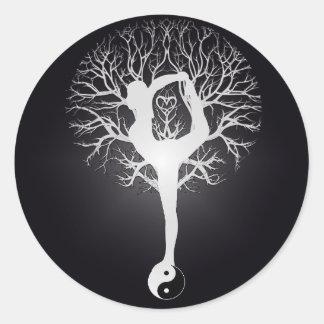 Yoga Tree Round Sticker