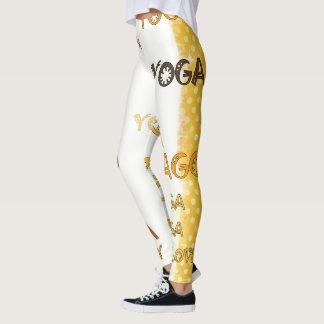 Yoga Tribal Yellow Grunge Leggings