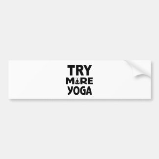 YOGA TRY BUMPER STICKER