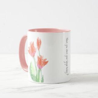 Yoga Tulip Watercolor Mug