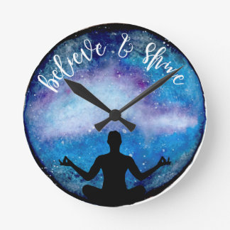 yoga universe round clock