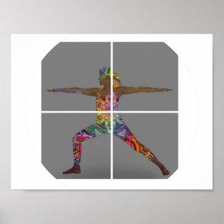 Yoga Warrior Pose Poster