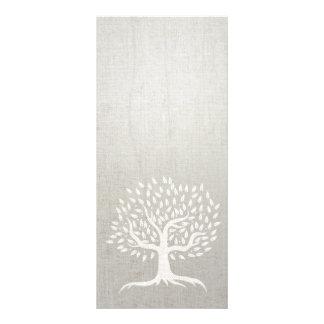Yoga & Wellness Vintage Tree Elegant Zen Linen Rack Card