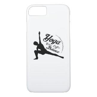 Yoga Wine Coffee Balance Funny Gift Case-Mate iPhone Case