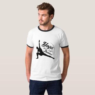 Yoga Wine Coffee Balance Funny Gift T-Shirt